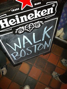 WalkBoston sign