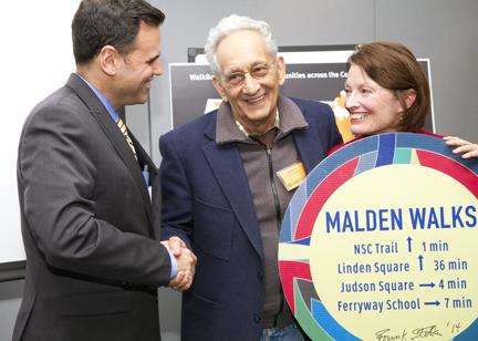 Mayor Gary Christenson, artist Frank Stella, Sharon Santillo. Photo Courtesy Carla Osberg Photography.